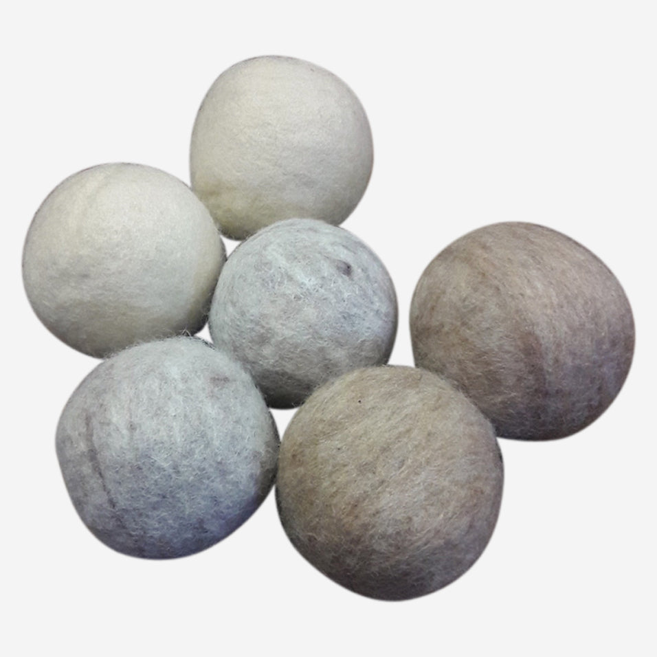 Oatmeal Wool Dryer Balls Set of 6