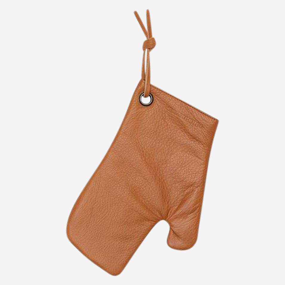 Leather Oven Mitt Chestnut