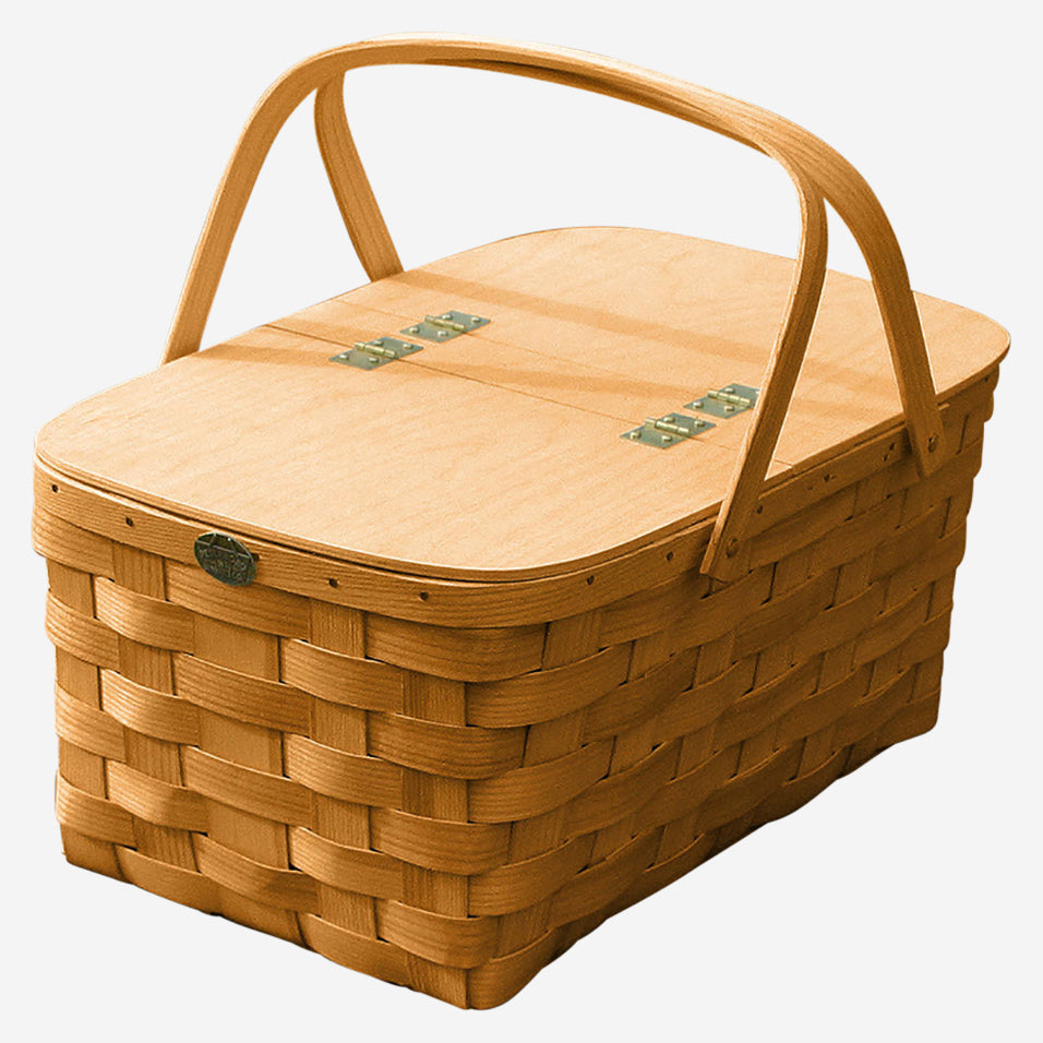 Family Size Picnic Basket with Split Lid