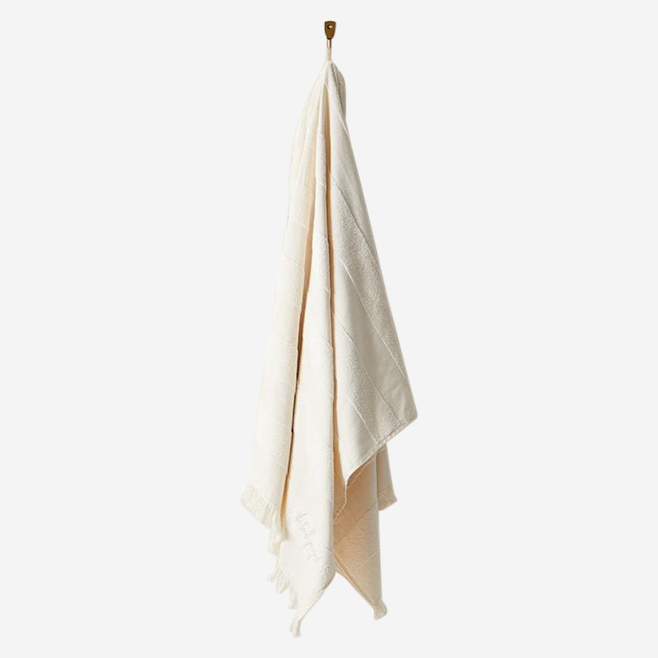 Cream Striped Pool Towels