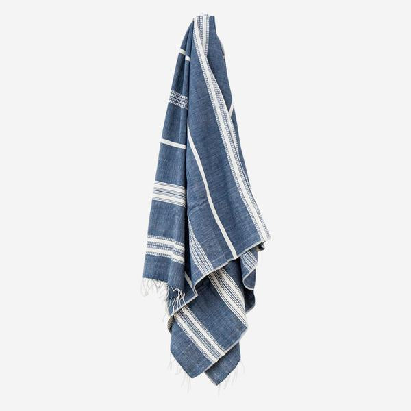 Aden Hand Towel Navy/Natural