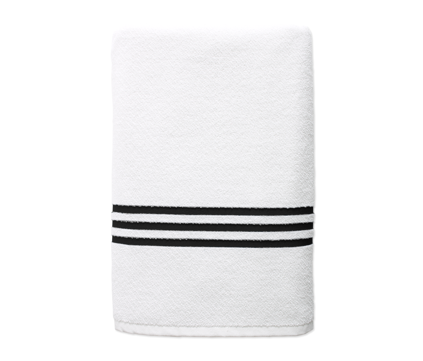 Black Stripe Pool Towel