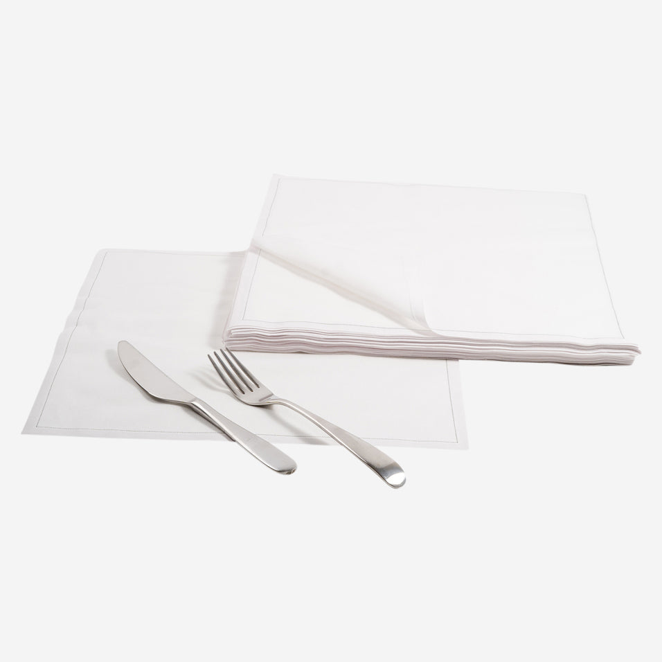Cotton Dinner Napkins Cream