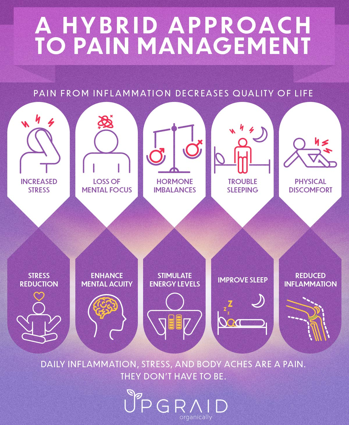 a hybrid approach to pain management includes supplementing your body with natural ingredients ashwagandha, turmeric, tart cherry and ginger root