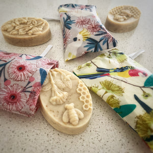 Eco Friendly Soap Pouch and Soap