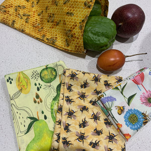 25cm by 17cm Beeswax Pouch Collections