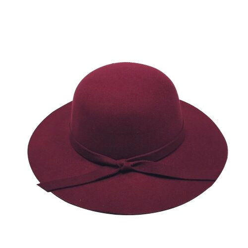 Floppy Felt Hat - Burgundy