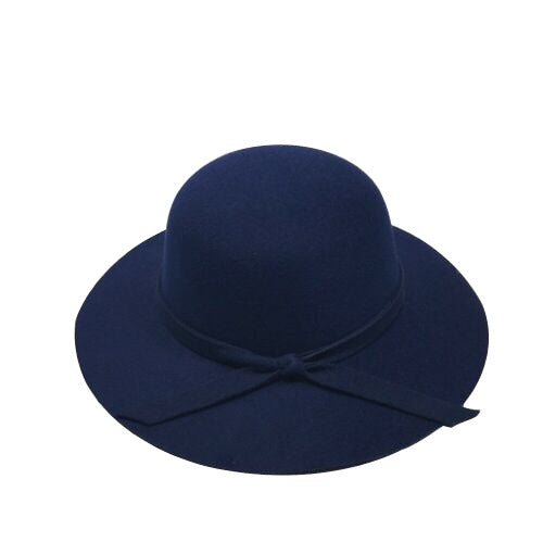 Floppy Felt Hat - Navy