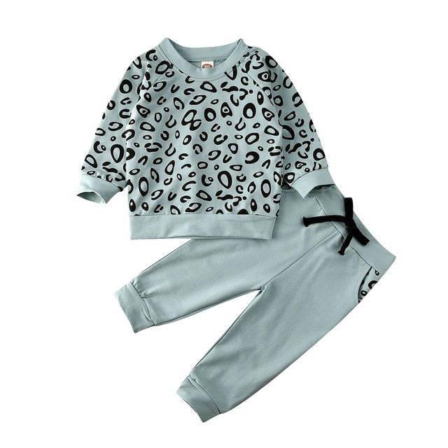 Animal Print Tracksuit Set - Aqua