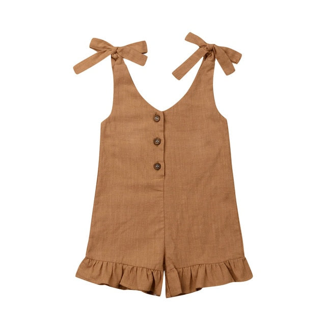 Summer Days Jumpsuit - Tan