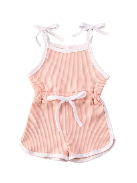 Tie Up Playsuit - Blush