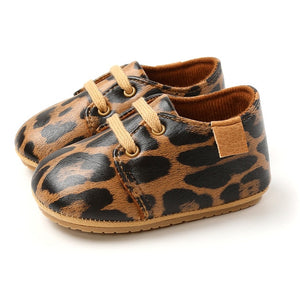Faux Leather Booties - Leopard