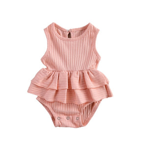 Peplum Bodysuit - Blush