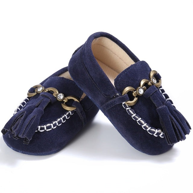 Chain Moccasins - Navy