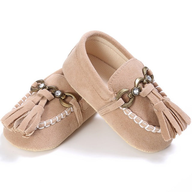 Chain Moccasins - Nude
