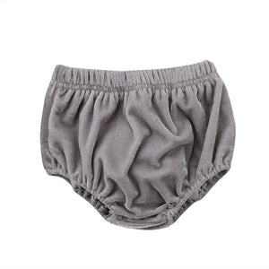 Velvet Bloomers - Grey