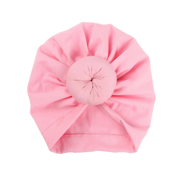 Top Knot Beanie - Pink