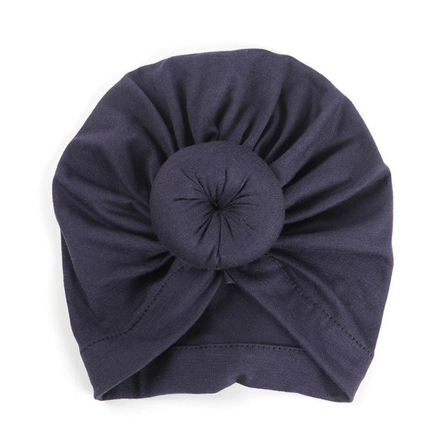 Top Knot Beanie - Navy