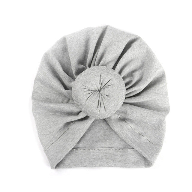 Top Knot Beanie - Grey