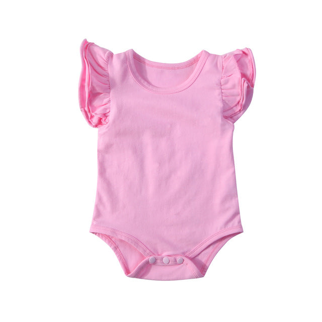 Frilly Bodysuit Short Sleeve - Pink