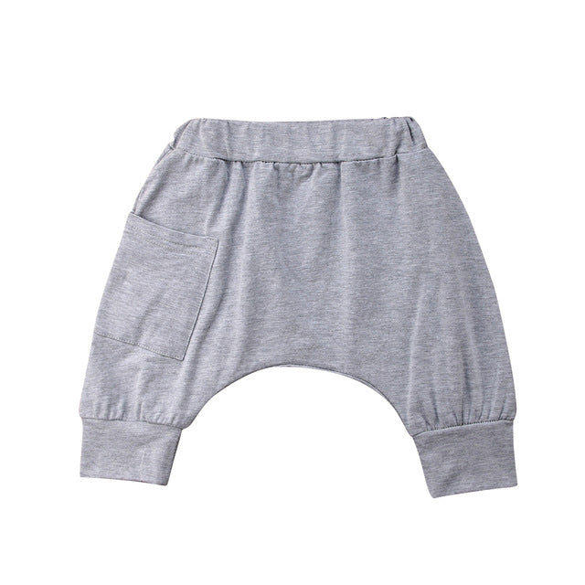 Drop Crutch 3/4 Pants - Light Grey