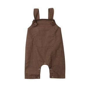Tie Up Overalls - Brown
