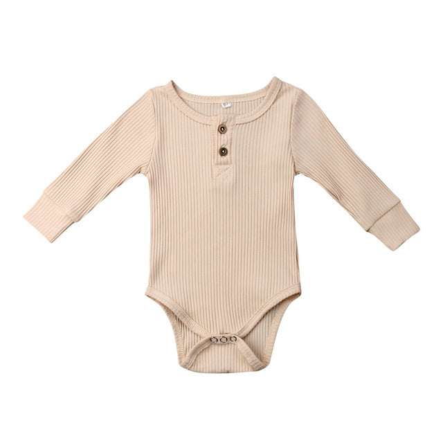 Ribbed Bodysuit - Nude