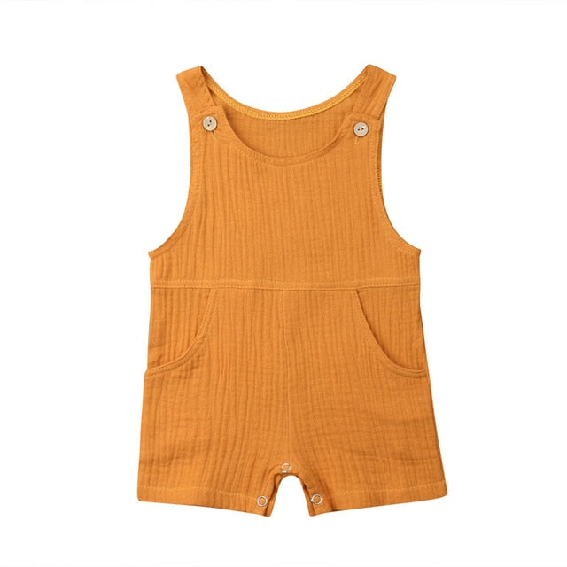 Pinafore Jumpsuit - Mustard