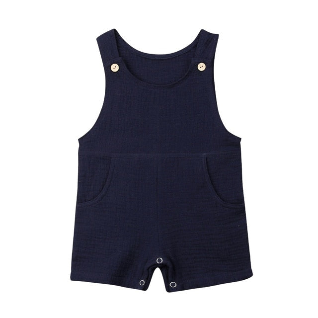 Pinafore Jumpsuit - Navy