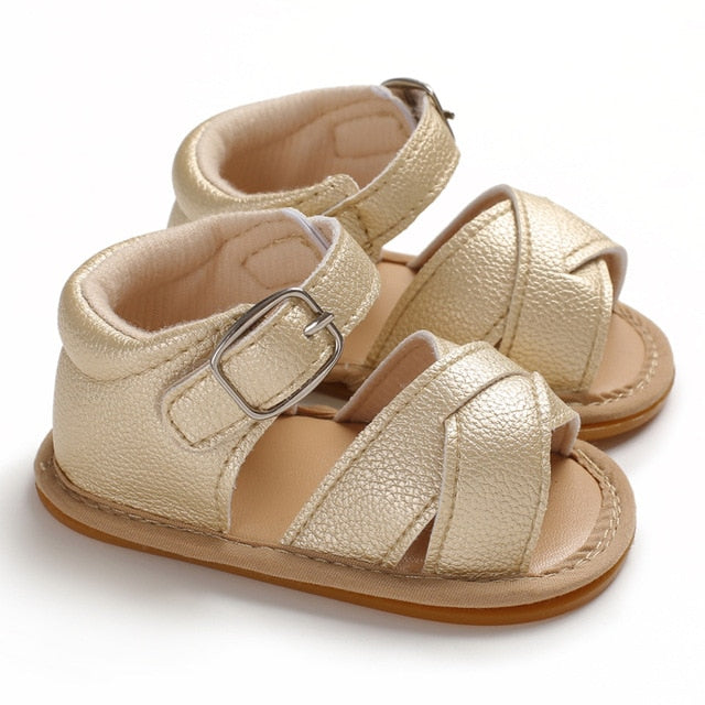 Cross Over Sandals - Gold
