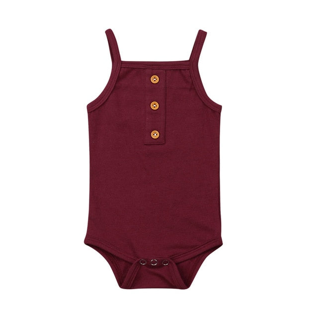 Basic Singlet Bodysuit - Burgundy