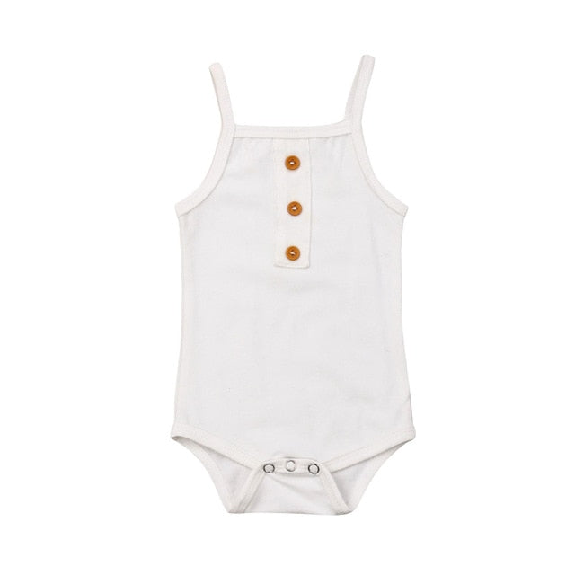 Basic Singlet Bodysuit - White