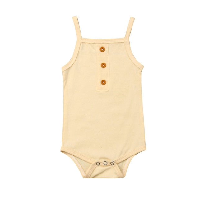 Basic Singlet Bodysuit - Cream