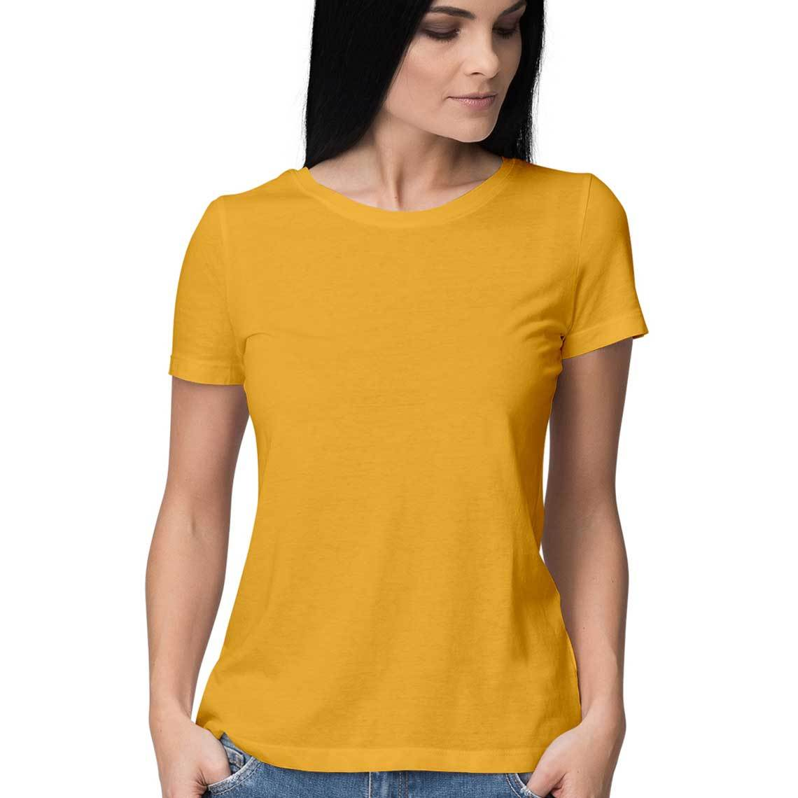 New Simple Plain T-shirts for Women