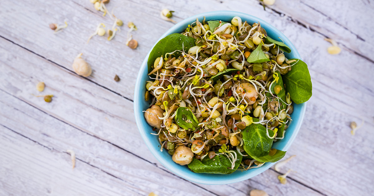 sprouts on salad