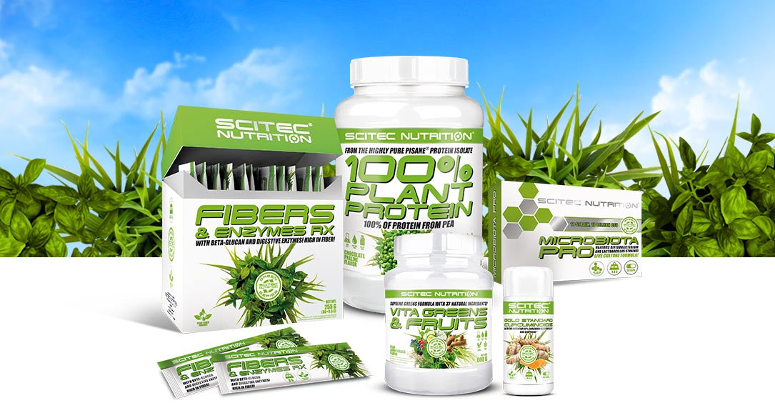 Scitec Nutrition green line products including VitaGreens