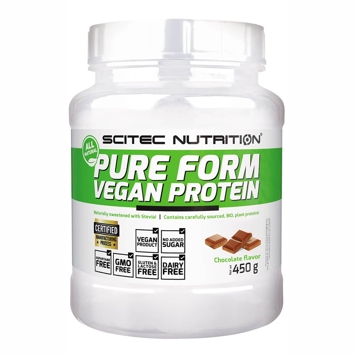 Pure Form Vegan Protein, 450g