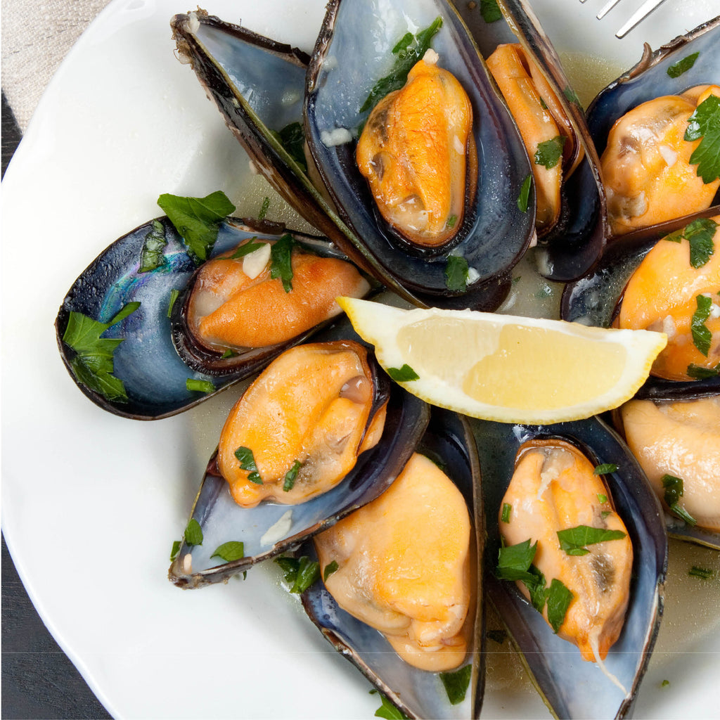 Half Shell Mussels 1kg