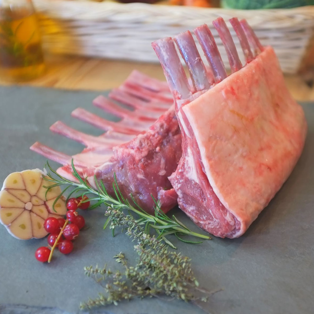 Lamb Rack (Frenched/ Cap- On, 600-800g piece) (Per/ Kg)