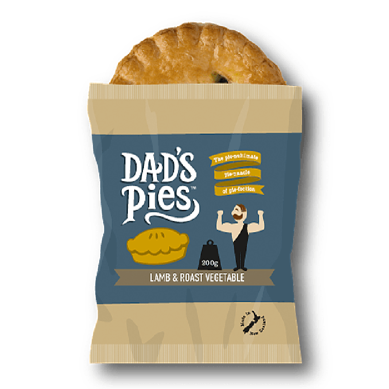 Dads Pies Lamb & Roast Vegetable Pies 200gm