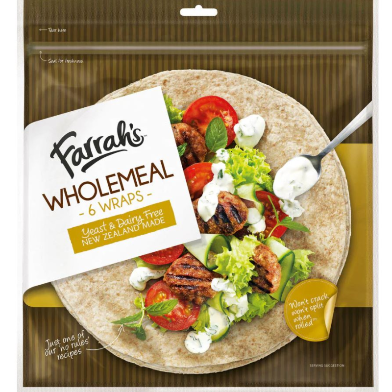 Farrah's Wholemeal Wraps (6 Pack)
