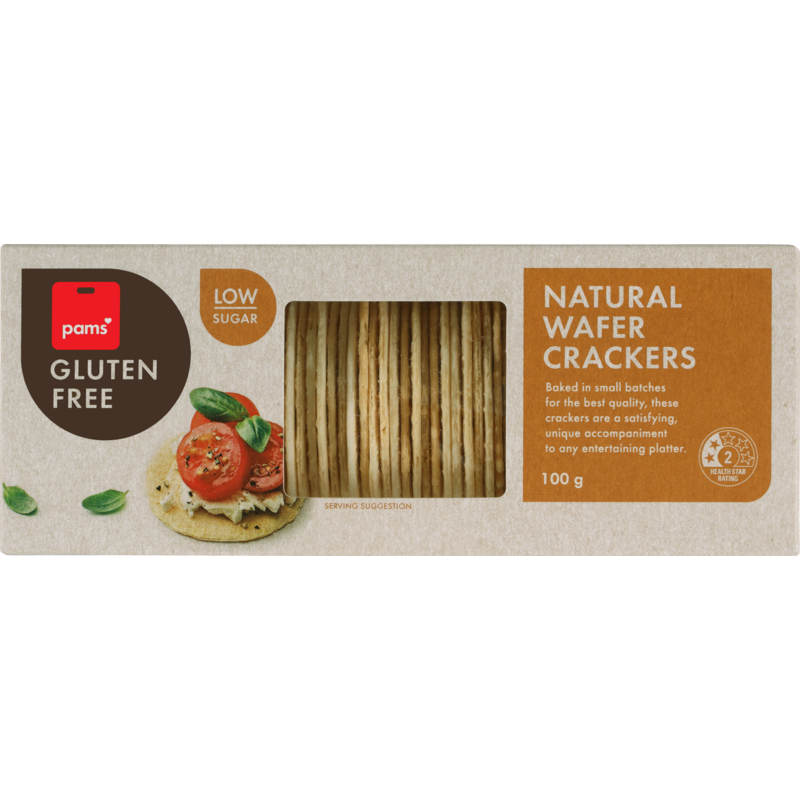 PAMS GF WAFER CRACKERS ORIGINAL 100G