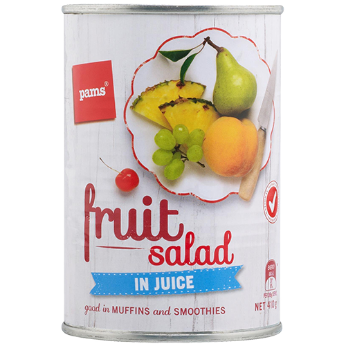 PAMS FRUIT SALAD IN JUICE 410G