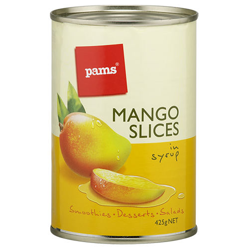 PAMS MANGO SLICES IN SYRUP 425G