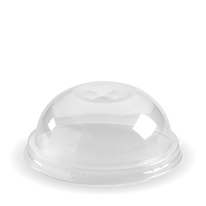 BioPak Domed Lid For Clear Cups (100 Per/ Sleeve)