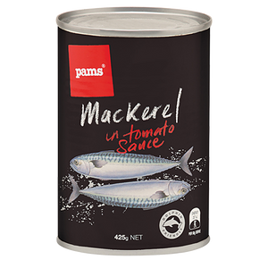 PAMS MACKEREL IN TOMATO SAUCE 425G