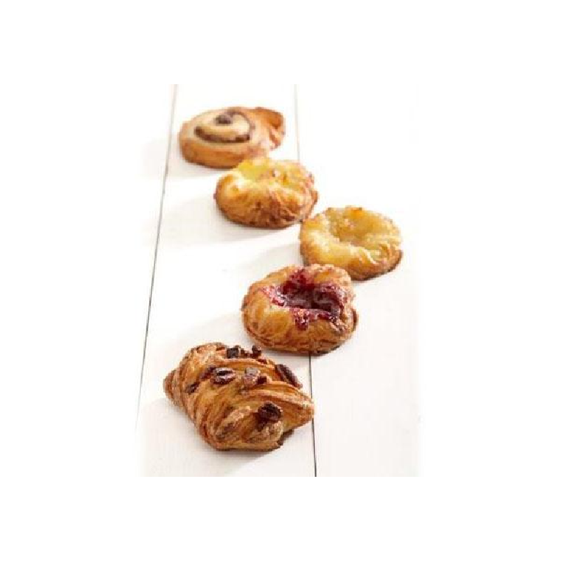 Mini Mix Danish Pastry 42gm (120/ctn) Pre-Proved & Ready to Bake
