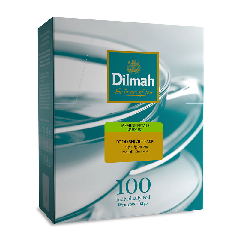 Dilmah Jasmine Green Envelope Tea Bags (100 Per/ Carton)