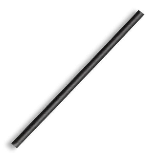 BioPak 'FSC' Paper Straws (Black/ Regular) (250 Per/ Sleeve)