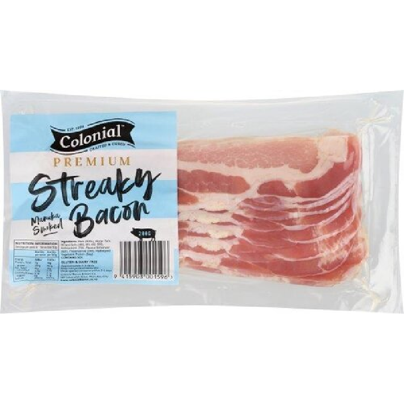 Premium Streaky Bacon 200 gm